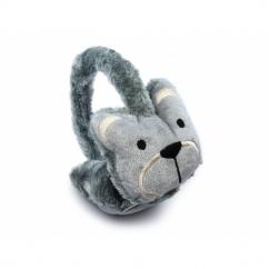 FASHION ANIMAL Ladies/Kids Winter Earmuffs Grey Cat