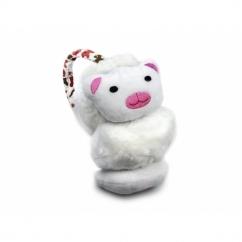 FASHION ANIMAL Ladies/Kids Winter Earmuffs White Cat