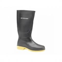 DULL Girls Boys Junior Wellington Boots Black