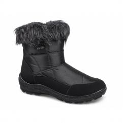 DAHLIA Ladies Faux Fur Warm Winter Boots Black