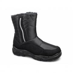LIAM Mens Faux Fur Lined Warm Winter Boots Black