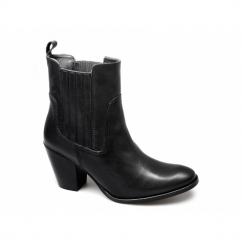 HARTHILL Ladies Leather Chelsea Boots Black