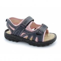 Girls Twin Velcro Sport Sandals Navy/Pink
