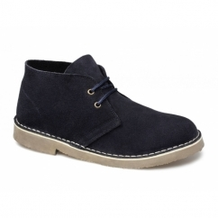 SAHARA Unisex Suede Leather Desert Boots Navy