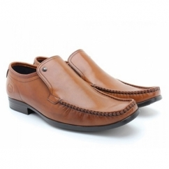 CARNOUSTIE Mens Leather Moccasin Loafers Waxy Tan