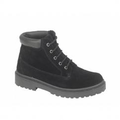 SANDSTORM Unisex 5 Eyelet Padded Collar Desert Boots Black