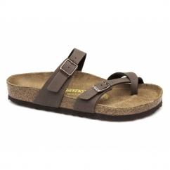 MAYARI Ladies Buckle Toe Strap Sandals Mocca