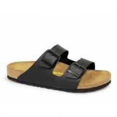 ARIZONA Unisex Slip On Buckle Sandals Black
