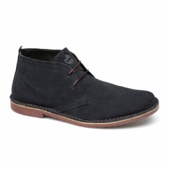 A.K. Mens Suede Lace-Up Desert Boots Navy
