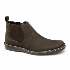 JASON Mens Crazyhorse Leather Chelsea Boots Brown