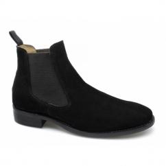 HOWARD Mens Suede Chelsea Boots Black