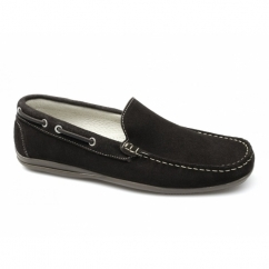 RAPID Mens Suede Moccasin Driving Loafers Brown