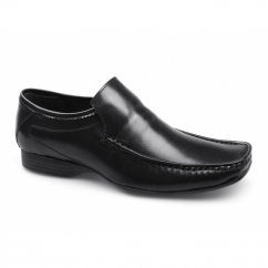 HOPE Mens Leather Apron Driving Loafers Black