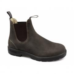584 Mens Premium Nubuck Waterproof Chelsea Boots Rustic Brown