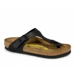 GIZEH Ladies Toe Post Buckle Sandals Black