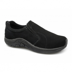RYNO Unisex Twin Gusset Jungle Casual Suede Trainers Black