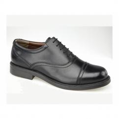 ALTON Mens Leather Lace Up Cap Oxford Shoes Black