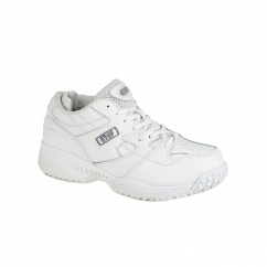 CRUISER Mens Leather Lace-Up Comfort Trainers White