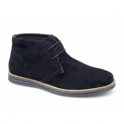 YARROW Mens Suede Leather Desert Boots Navy