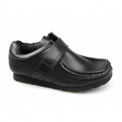 SCOTT JNR Boys School Velcro Shoes Black