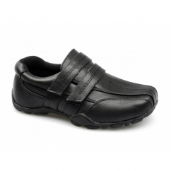 MAXWELL Boys School Velcro Padded Shoes Black