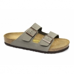 ARIZONA Unisex Faux Nubuck Buckle Sandals Stone
