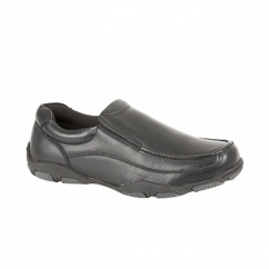 ADON Boys School Slip On Loafers Black