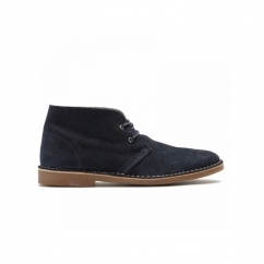 LEON WAX WARM H Mens Suede Lace-Up Desert Boots Navy Blazer