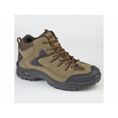 ONTARIO Mens Lace Up Trail Trek Mid Ankle Boots Khaki