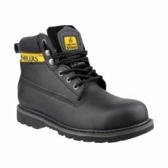 FS9 Unisex SB SRA Steel Safety Boots Black
