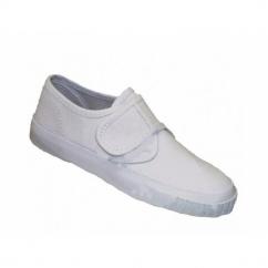 SCHOOLRITE Boys/Girls Velcro Plimsolls White
