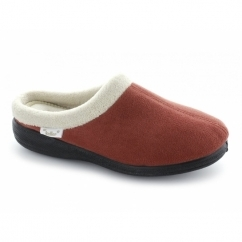 MURIEL Ladies Soft Mule Slippers Rust