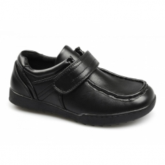 OLIVER Boys School Velcro Shoes Black