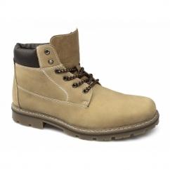 37712-23 Mens Nubuck Warm Boots Honey