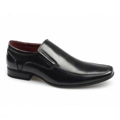 OSVALDO Mens Faux Leather Slip On Shoes Black