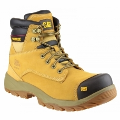 SPIRO Mens Steel Toe Safety Boots Honey