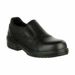 FS94C Ladies S1 Slip On Safety Shoes Black