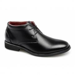 OSCAR Boys Leather School Chukka Boots Black