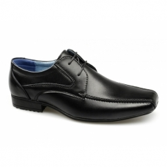 SNOWDEN Boys Leather Lace-Up School Shoes Black