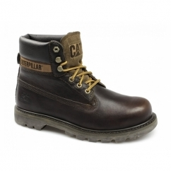 COLORADO Mens Leather Lace-Up Work Boots Ginger