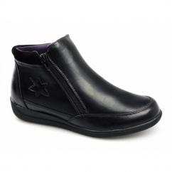 NANCY Ladies Zip Dual Fit Wide EE/EEE Boots Black