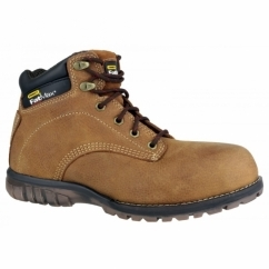 PORTLAND Mens Steel S1 SRA P Lace-Up Safety Boots Cinder