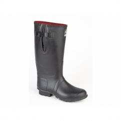 NEOPRENE Gusset Unisex Buckle Wellington Boots Black