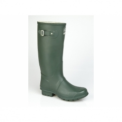 COUNTRY Wide Calf Unisex Buckle Wellington Boots Green