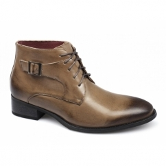 ELIAS Mens Lace Up Buckle Chukka Boots Tan