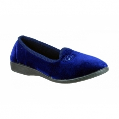 SIMONE Ladies Slip On Slippers Navy