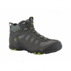 PENRITH MID WP Mens Waterproof Hiking Boots Charcoal/Chartreuse