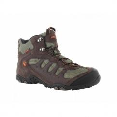 PENRITH MID WP Mens Waterproof Hiking Boots Chocolate/Orange