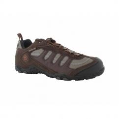 PENRITH LO WP Mens Suede Waterproof Hiking Shoes Chocolate/Orange