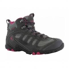 PENRITH MID WP Ladies Waterproof Hiking Boots Charcoal/Cyclamen